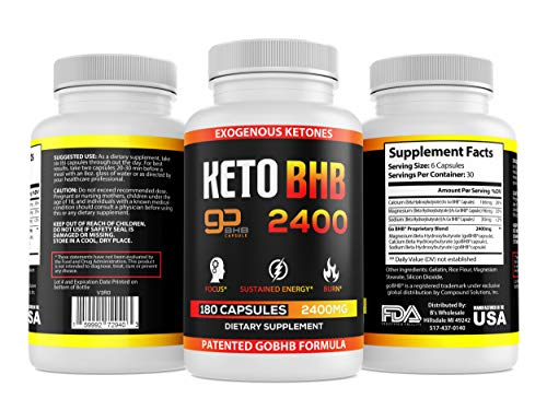 Keto Pills - 3X Dose (2400mg | 180 Capsules) Advanced BHB Burn Diet Pills - Best Exogenous Ketones Supplements Burner - Max Strength Formula, Perfect Carb Blocker for Women & Men