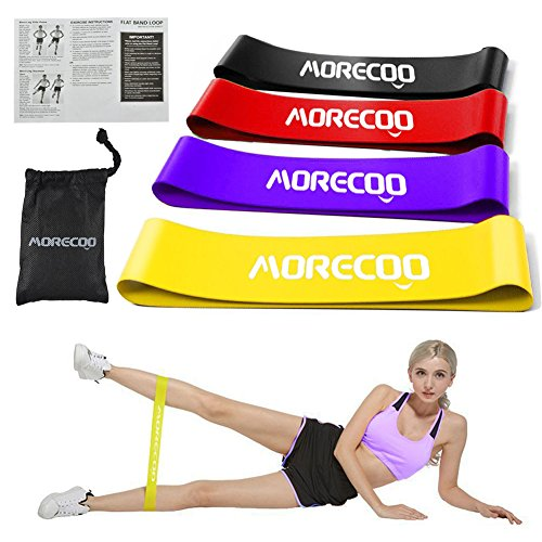 MORECOO Resistance Loop Exercise Bands Best Home Gym Fitness