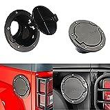 Jeep Wrangler Black Fuel Filler Door Cover Gas Tank Cap 4-Door 2-Door fit for 2007 - 2015 Jeep Wrangler JK & Unlimited