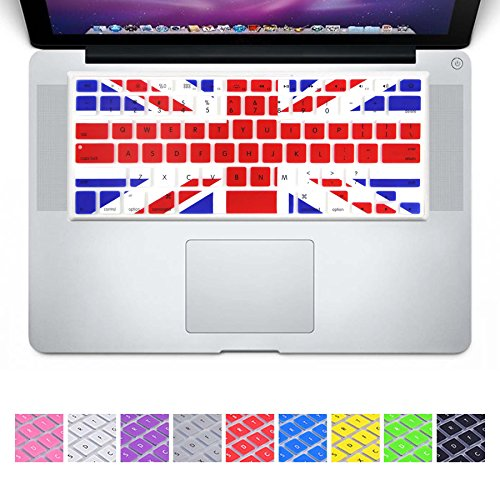 DHZ UK Flag EU/UK European ISO Layout Silicone Keyboard Cover Skin Case for MacBook Pro 13