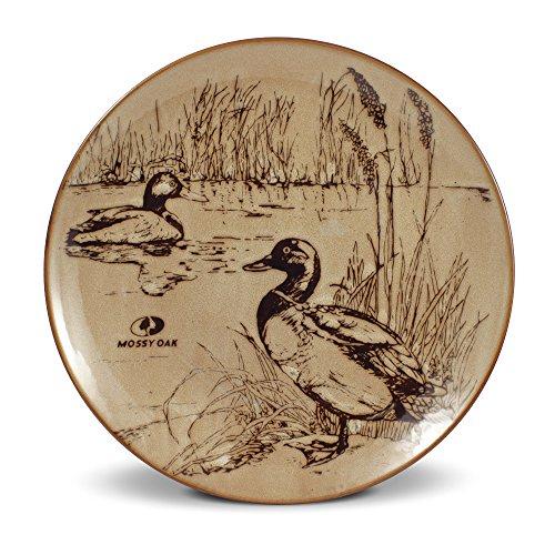 Mossy Oak Animal Print Duck Dinner Plate, 11-Inch