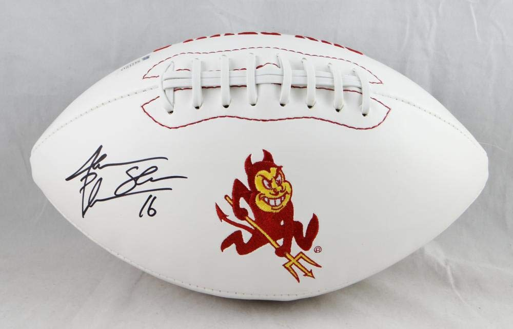 Jake Plummer Autographed Arizona State Logo Football - Beckett Authenticated