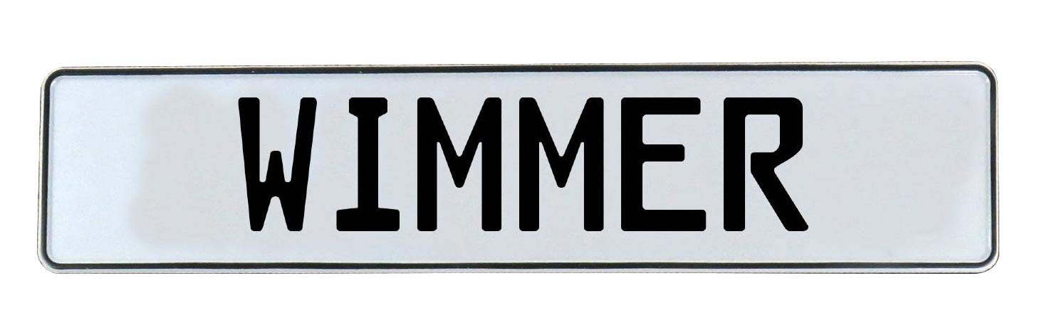 Vintage Parts 776955 Wall Art Wimmer White Stamped Aluminum Street Sign Mancave