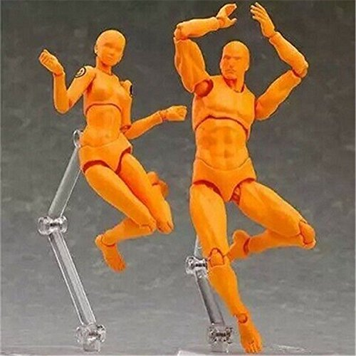 Batman Replica Costume Uk (TONGROU HE & SHE Figma Fresh Orange Ver. PVC Action Figure Set of 2PCS Toys New In Box)