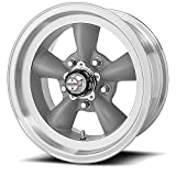 American Racing Hot Rod Torq Thrust D VN105 Torq Thrust Gray Wheel with Machined Lip (15x8''/5x4.5'')