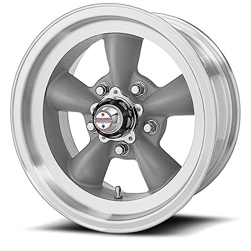 American Racing Hot Rod Torq Thrust D VN105 Torq Thrust Gray Wheel with Machined Lip (15x8''/5x4.5'') by American Racing