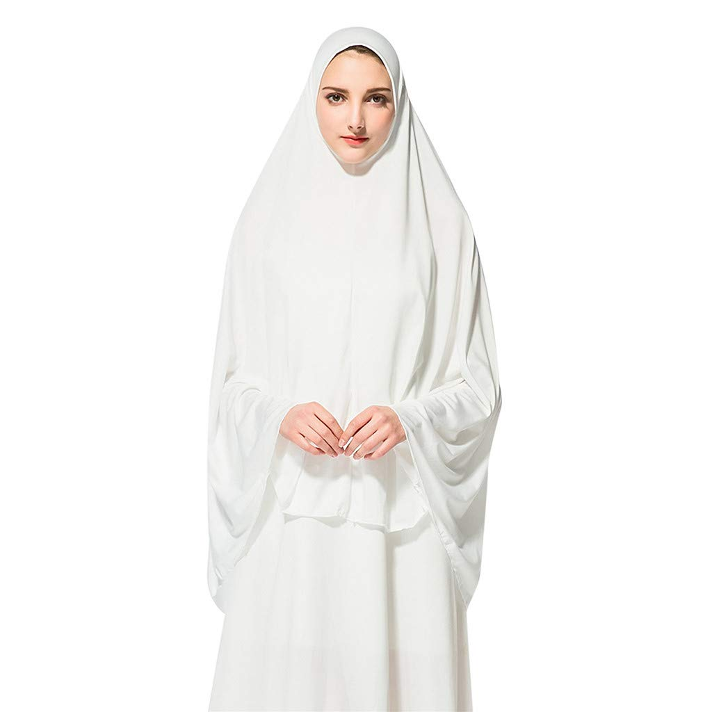 Islamische Ramadan Gebetsanzug Hijab Cap Mittlerer Osten Ninja Saudi Schal Arabisch Al-Amira Shayla Kopfimgch Chador Lucky Mall Eid al-Fitr Frauen Mode Volltonfarbe Muslim Lange Khimar