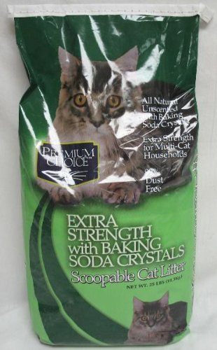 Premium Choice Extra Strength with Baking Soda Scoopable Cat Litter, 25 Pound Bag, My Pet Supplies