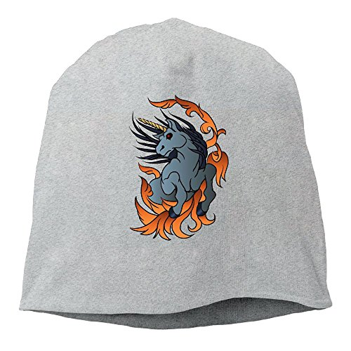 Magic Fire Cap (Running Vector Fire Unicorn Fashion Cap Hip-Hop Hedges Knit Hats)