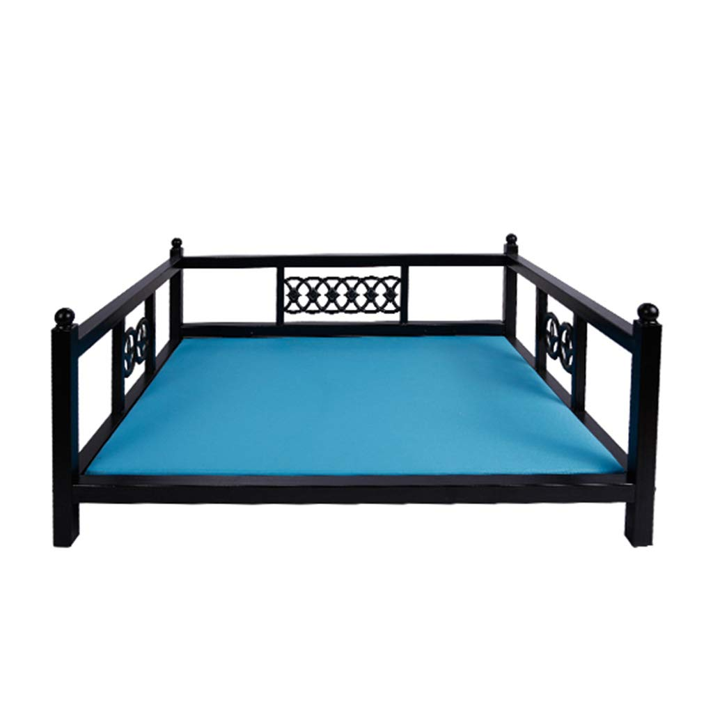 4 7054CM  4 7054CM GWM Kennels Dog Bed,Cat Bed,European Style Square Iron with Mattress Four Seasons Universal Washable Medium and Large Dogs Load-Bearing 70kg (color    4, Size   70  54CM)