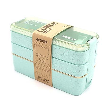 DIYOO Fiambrera Caja Bento para niños y Adultos con 3 ...