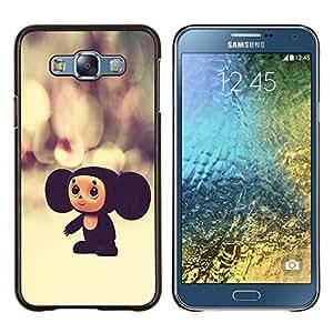 "Be-Star Único Patrón Plástico Duro Fundas Cover Cubre Hard Case Cover Para Samsung Galaxy E7 / SM-E700 ( Rusia personaje de dibujos animados juguete grande Orejas 3D"" )"
