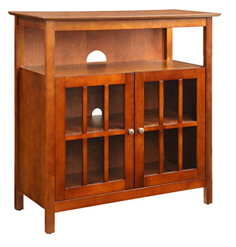 Convenience Concepts Designs2Go Contemporary Big Sur Highboy TV Stand, - Cherry Newport Cabinet Entertainment