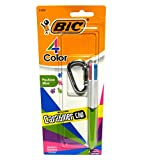 Bic 4 Color Fashion Mini Pen with Carabiner Clip (Green)