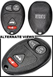APDTY 24740 Key-less Entry Remote Key Fob Transmitter 4-Button Assembly w/Trunk Release Fits Select Buick Century Regal Olds Intrigue Pontiac Grand Prix (Replaces GM 10335582; 100% Self Programmable)