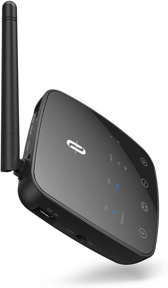 TaoTronics Bluetooth Adapter Bluetooth Transmitter Empf/änger 50m