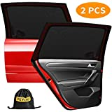 2 Semi-Transparent and 2 Transparent 21 x 14 17 x 14 Basics Car Sun Shades with 110 and 80 GSM Polyester with Suction Cup for Darker Shadow
