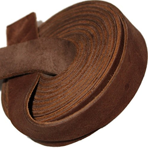 TOFL Leather Strap Medium Brown ¾ Inch Wide 72 Inches (Brown Leather Strap Jewelry)