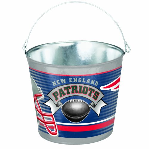NFL New England Patriots 5-Quart Galvanized Pail