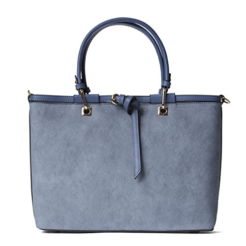 Handbag Republic New Womens Designer Vegan Leather Top Handle Bag Tote Style Traveling Purse For Ladies (Handbags Designer New)