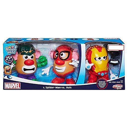 Spider Man Mr Potato Head (Mr. Potato Head Spider-Man vs Hulk with Bonus Iron Man)