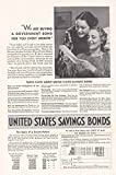 1938 United States Savings Bonds: We Are Buying a Gove, United States Savings Bonds Print Ad