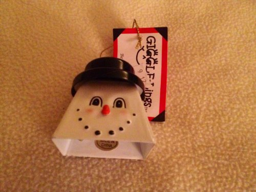 Belsnickel Giggly Lings Constable Frostable Snowman Metal Cowbell ()
