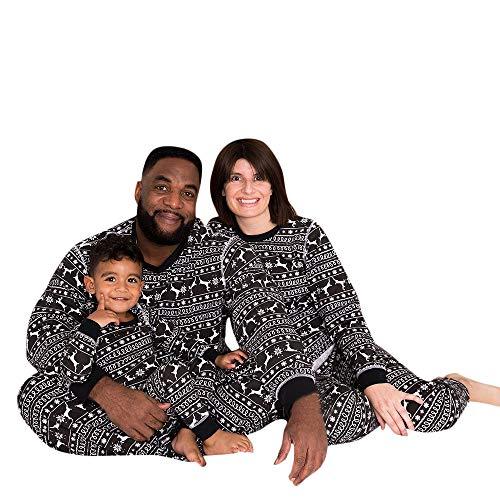 Alalaso Christmas Reindeer Family Outfits Set, Family Pajamas