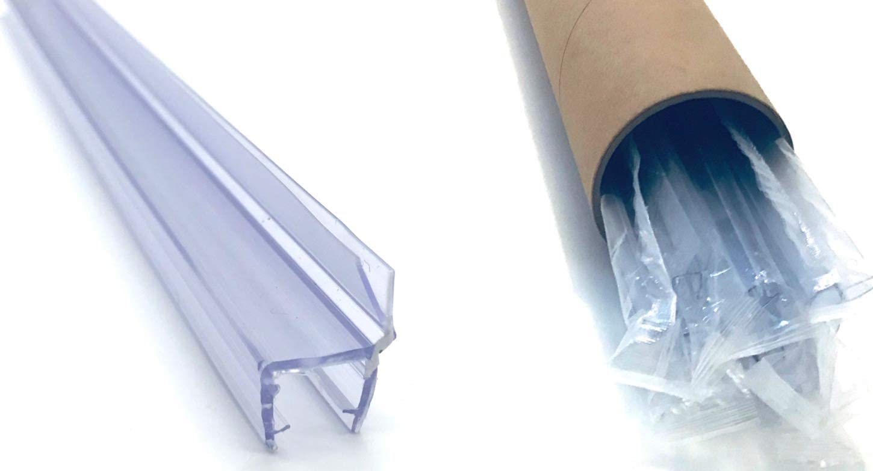 """(5 PAC) SuperSeals Frameless Shower Door Seal 1/2"""" Glass Soft Strike 96"""" Long by SuperSeals"""