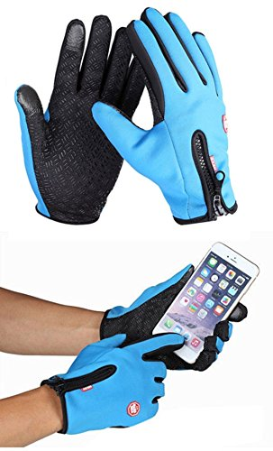 Super Gorilla Child Costumes (1 Pc (1 Pair) Famous Popular Hot Waterproof Touch Screen Warm Glove Hand Decoration Ski Gift Wrist Girls Cover Size XL Color Blue)