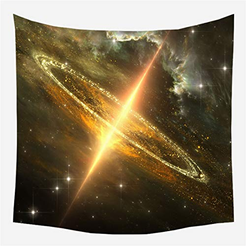 (JUNMAO Black Hole Series Tapestry Wall Hanging Universe Space Wall Blanket Galaxy Star Wall Art Home Decoration for Living Room Bedroom Dorm (Z, 59.1