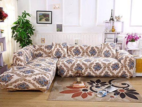 Jian Ya Na L Shape Stretch Sofa Covers Polyester Spandex Fab