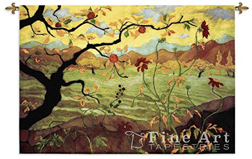 Apple Tree With Red Fruit Wall Tapestry (Silk Tapestry Wool)
