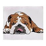 english bulldog bed - CafePress - Teddy The English Bulldog - Soft Fleece Throw Blanket, 50