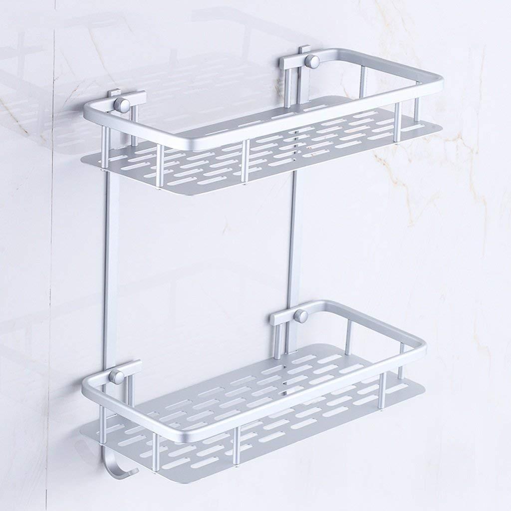 FuweiEncore Bastidores de baño Espacio de Aluminio Estante de Almacenamiento de baño en la Pared Estante de baño Lavabo de baño Mesa Accesorios de Estante montados en la Pared sin Perforaciones