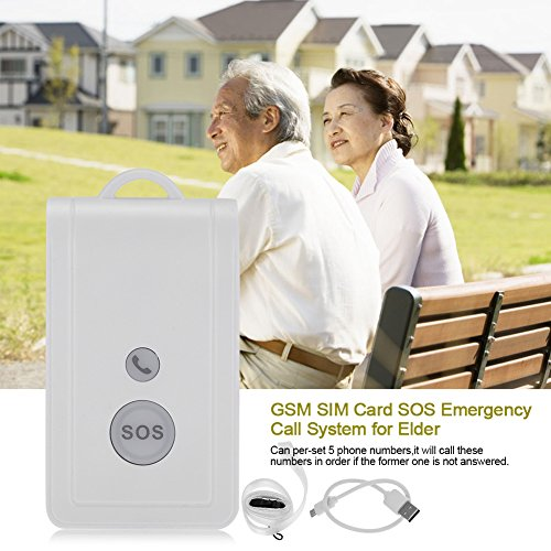 Zerodis SOS Panic Button, GSM SIM Card Wireless Emergency Alarm Alert System Security Kit Emergency Call Device with Strap by Zerodis (Image #5)