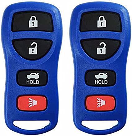 KeylessOption Keyless Entry Remote Control Car Key Fob Replacement for KBRASTU15 CWTWB1U733-Blue