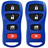 nissan altima 2004 key fob - KeylessOption Keyless Entry Remote Control Car Key Fob Replacement for KBRASTU15-Blue (Pack of 2)