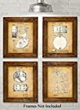 Best Wall Pops Friends Photos - Original Drums Patent Art Prints - Set of Review