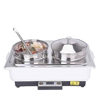 Buffet 9L eléctrico de Sopa Tipo Cabeza Doble Olla de Avena Hotel Horno calefacción Aislamiento Gran Capacidad Aislamiento Horno Horno Desayuno Estufa: ...