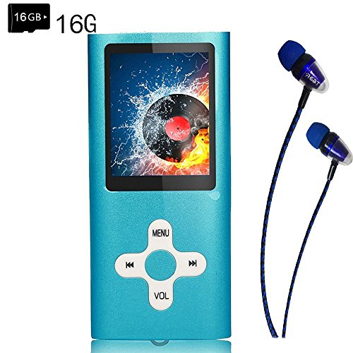 MP3 Player/Music Player,EVASA with a 16 GB TF Card Portable Digital Music Player/Video/Voice record/FM Radio/E-Book Reader,Ultra Slim 1.8