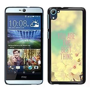 // PHONE CASE GIFT // Duro Estuche protector PC Cáscara Plástico Carcasa Funda Hard Protective Case for HTC Desire D826 / Girlfriend Apple Blossom Spring Quote /