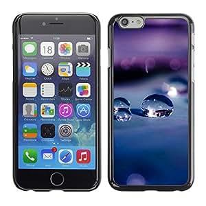 Cubierta de la caja de protección la piel dura para el Apple iPhone 6PLUS (5.5) - water droplets drops macro depth of field