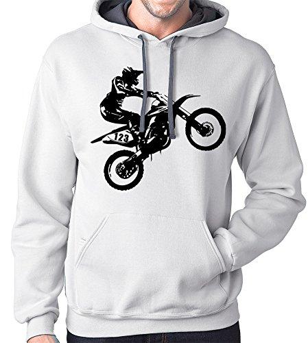 Motorcross Hoodie Sweatshirt, XL,