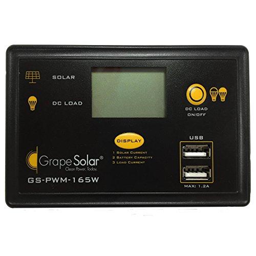 Grape Solar GS-PWM-165W PWM Solar Charge Controller, 165-watt by Grape Solar