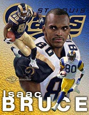Isaac Bruce NFL Wide Receiver St. Louis Rams Team #80 Football Poster Print for Accessories - Bags/Purses, Apparel - Coat/Jacket, Apparel - Jeans/Pants, Children, Crafts by SayrusPlay