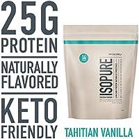 Isopure Keto Friendly 1 Pound Protein Powder (Natural Tahitian Vanilla)