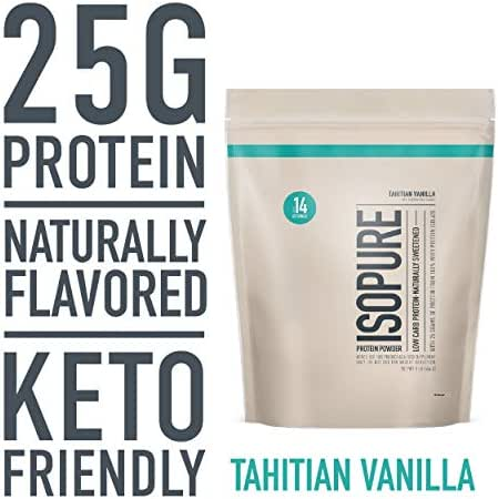 Protein & Meal Replacement: Isopure Whey Protein Isolate Naturally Flavored