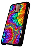 Samsung Galaxy S5 MINI Hard Case Black, Rainbow Colorful Pattern Design, By Sublifascination, No.236