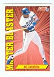 Bo Jackson baseball card (Kansas City Royals) 1991 Score Master Blaster #692